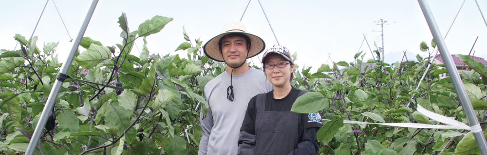 甲斐市 新規就農者インタビュー-西田さん夫妻