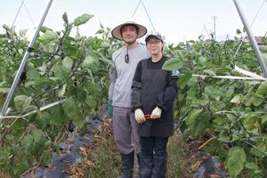 甲斐市新規就農者インタビュー西田夫妻