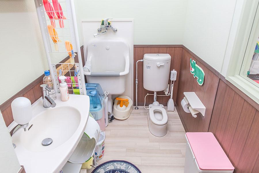 専用のトイレや洗面所、給湯室も完備「よつば」
