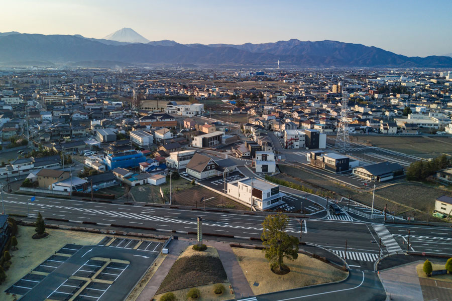 玉幡公園(Kai・遊・パーク)の南側に広がる「Queメディカルタウン」